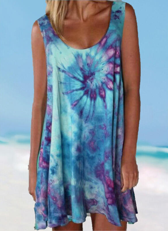 Splice color Gradient Strap Round Neck Plus Size Colorful Casual Cover-ups Swimsuits