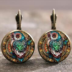 Boho Alloy Glass Earrings (Set of 2)