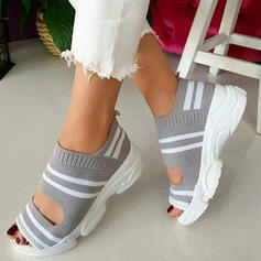 Women's Cloth Mesh Wedge Heel Sandals Wedges Peep Toe With Others shoes