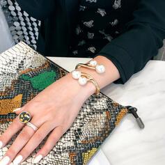À la mode Alliage De faux pearl Femmes Dames Bracelets