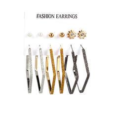 Beautiful Fashionable Simple Pretty Alloy Women's Earrings 6 PCS
