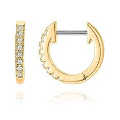 Shining Simple Rhinestones Stainless Steel Women's Earrings 2 PCS