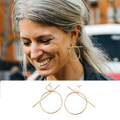 Classic Pretty Round Alloy With Minimalist Women's Ladies' Girl's Earrings