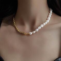 Unique Exquis élégant Alliage Pearl avec Perles Femmes Dames Fille de Colliers