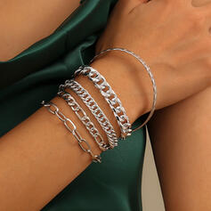 With Gold Plated Women's Ladies' Bracelets 5 PCS