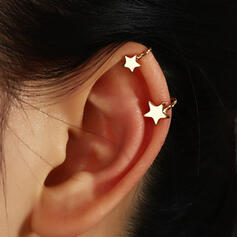 Simple Star Alloy Women's Ladies' Earrings