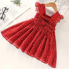 Toddler Girl Ruffle Polka Dot Print Dress