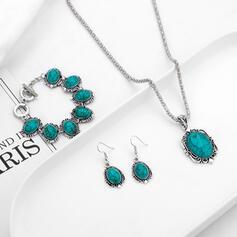 Attrayant Charme Élégante Artistique Délicat Alliage Femmes Dames Colliers Boucles d'oreilles Bracelets