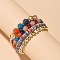 Layered Beads Women's Bracelets (Set of 4)