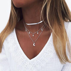 Hottest Layered Alloy With Star Moon Necklaces (Set of 3)