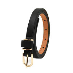 Women's Beautiful/Classic/Elegant/Metal Buckle Faux Leather Belts