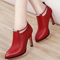 De mujer PU Tacón stilettos Salón Tacones con Hebilla zapatos