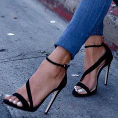 Femmes PU Talon stiletto Sandales Escarpins Low Top Talons avec Boucle Couleur unie chaussures