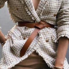 Elegante Couro Mulheres Cintos