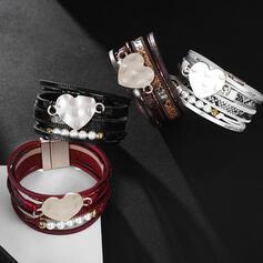 Style Classique En couches Alliage Corde en cuir Femmes Dames Bracelets