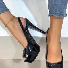 De mujer PU Tacón stilettos Salón Plataforma Encaje Tacones con Agujereado Color sólido zapatos