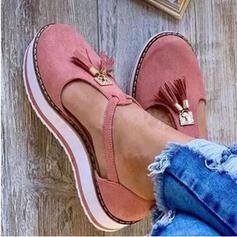 Women's Leatherette Flat Heel With Tassel shoes