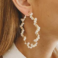 Fashionable Alloy Beads Women's Earrings 2 PCS