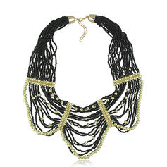 Vintage Boho Elegant Artistic Alloy Beads With Beads Women's Necklaces