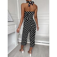 PolkaDot Halter Sleeveless Elegant Vintage Jumpsuit