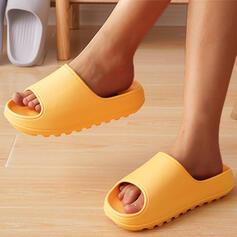 Women's EVA Flat Heel Sandals Flats Platform Peep Toe Slippers With Solid Color shoes