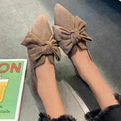 Women's Cloth Flat Heel Flats Slip On With Solid Color shoes