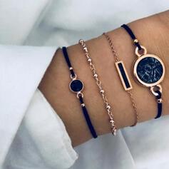 Attrayant Charme Artistique Délicat Alliage Femmes Dames Bracelets 4 PIÈCES