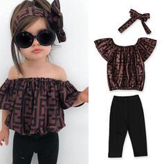 3-pieces Baby Girl Print Cotton Set