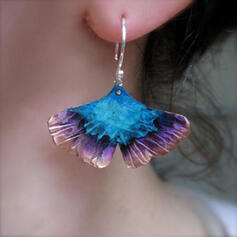 Charming Pretty Artistic Romantic Alloy With Leaf Minimalist Women's Earrings
