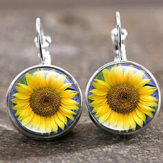Charming Pretty Artistic Romantic Alloy With Moon Circle Decor Women's Earrings