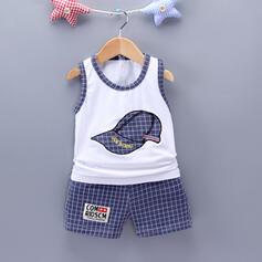 2-pieces Baby Boy Plaid Print Cotton Set