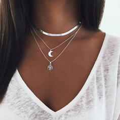 Fashionable Alloy With Moon Jewelry Sets Necklaces 3 PCS