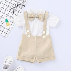 2-pieces Baby Bowknot Solid Cotton Set