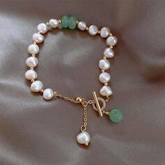Unique Exquis élégant Alliage Pearl avec Perles Femmes Dames Fille de Bracelets
