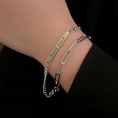 Unique Exquis élégant Alliage avec Décor de chaîne Femmes Dames Fille de Bracelets
