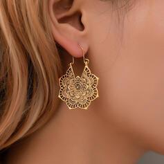 Boho Alloy With Flower Pattern Women's Earrings
