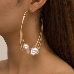 With Faux Pearl Women's Ladies' Earrings 2 PCS