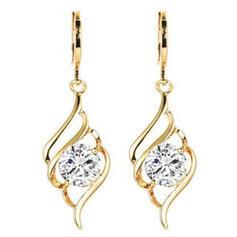 Elegant Alloy With Zircon Women's Earrings
