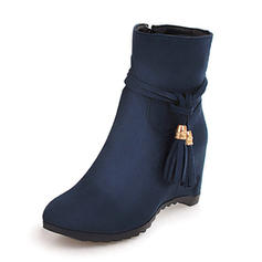 De mujer Ante Tipo de tacón Cuñas Botas Botas al tobillo zapatos