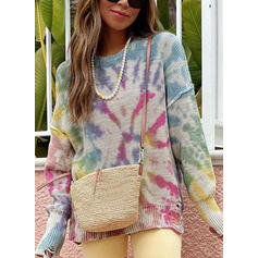 Crew Neck Casual Knit Tops