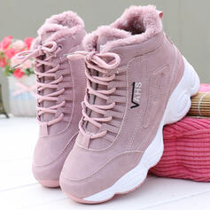 Women's PU Flat Heel Flats Sneakers With Lace-up Solid Color shoes