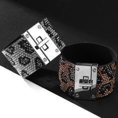 À la mode Alliage Strass Corde en cuir avec Strass Femmes Dames Bracelets