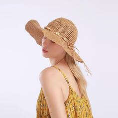 Ladies'/Women's Classic/Simple Polyester Floppy Hats/Panama Hats