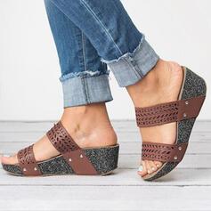 PU Tipo de tacón Sandalias Pantuflas Tacones con Otros zapatos