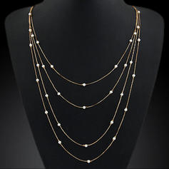 Beautiful Alloy With Imitation Pearl Ladies' Necklaces