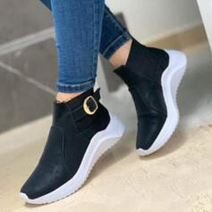 Women's Cloth Mesh Flat Heel Flats Sneakers With Splice Color shoes