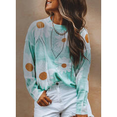 Valentine's Day Graduation Floral Round Neck Casual Vacation Sweaters
