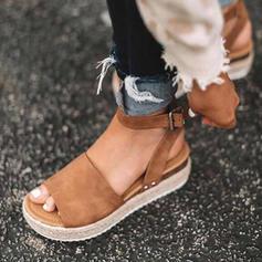 Couro Sem salto Sandálias Sem salto Plataforma Peep toe com Outros sapatos