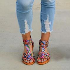 Cuero de Microfibra Tacón plano Sandalias Planos Encaje con Otros zapatos