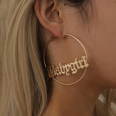 With Gold Plated Women's Ladies' Earrings 2 PCS